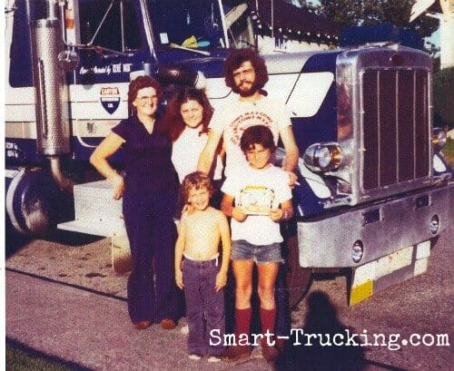 Trucker with his Family Retro