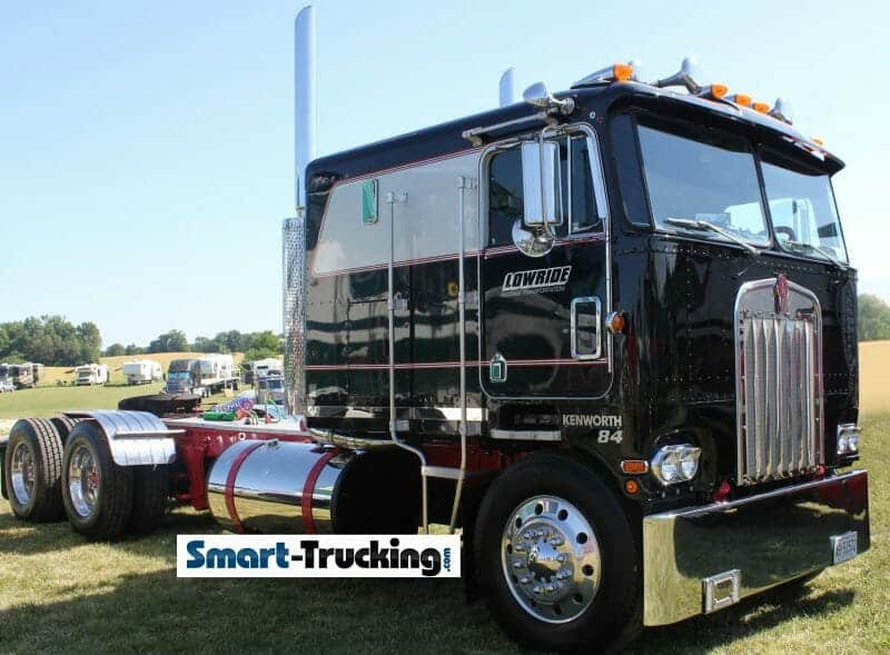 1984 Black Kenworth Cabover