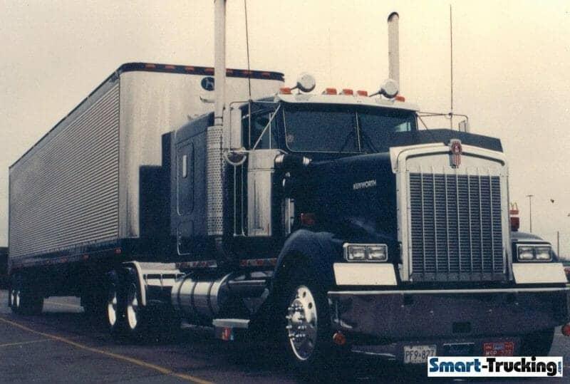 1993 Kenworth W900B Dark Blue - Best Kenworth Trucks