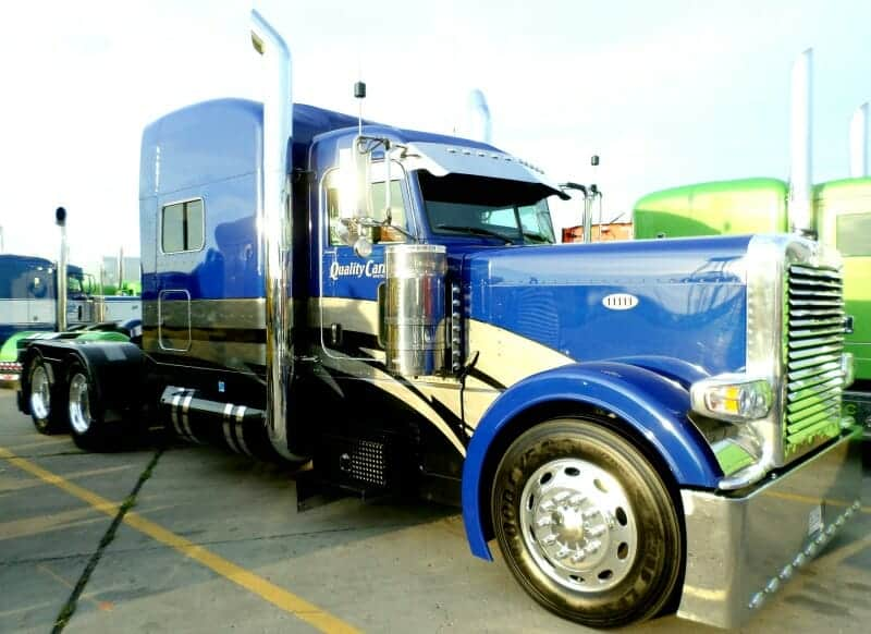 Peterbilt 389 Custom Show Truck Blue Gray Rig