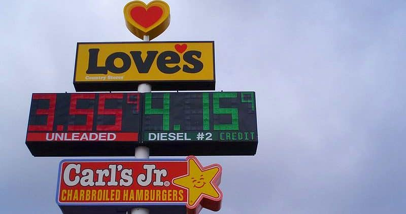 Love's Truck Stop New Mexico Sign