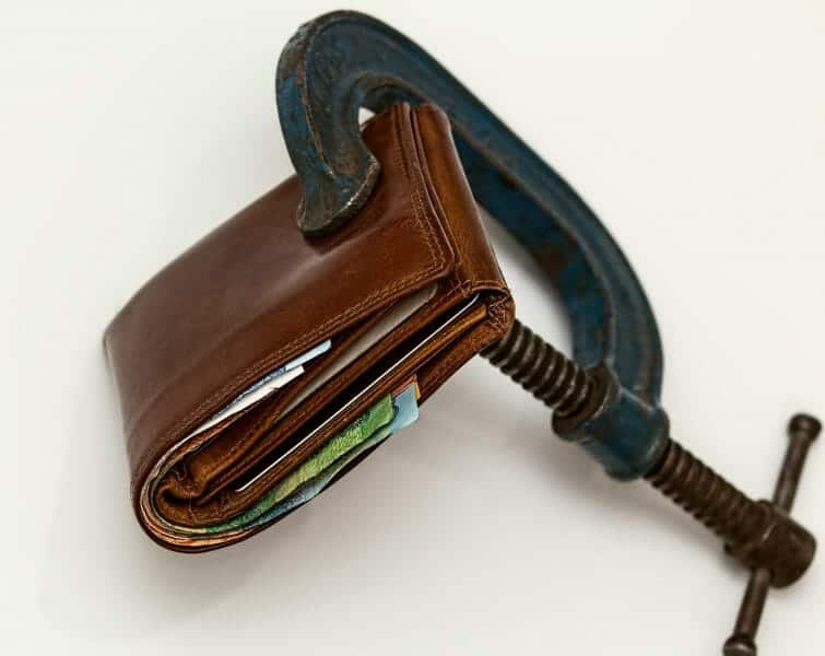 Wallet with a c clamp