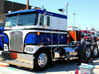 Blue White Kenworth Cabover MATS Show