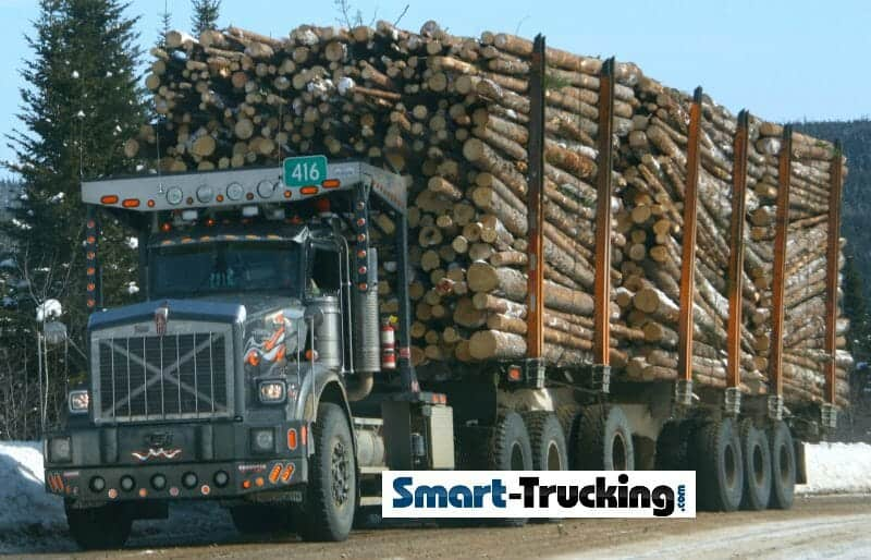 Kenworth Logging Truck Loaded 150000 LB