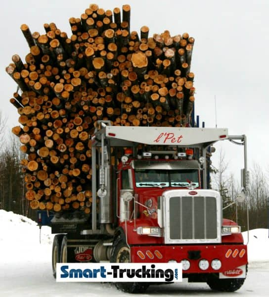 Peterbilt Logging Truck Loaded LPet